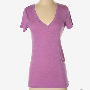 PINK VS Light Purple V-neck Tee